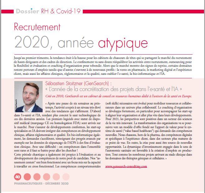 Sébastien Stoitzner (GenSearch) : « L'année de la concrétisation des projets dans l'e-santé et l'IA